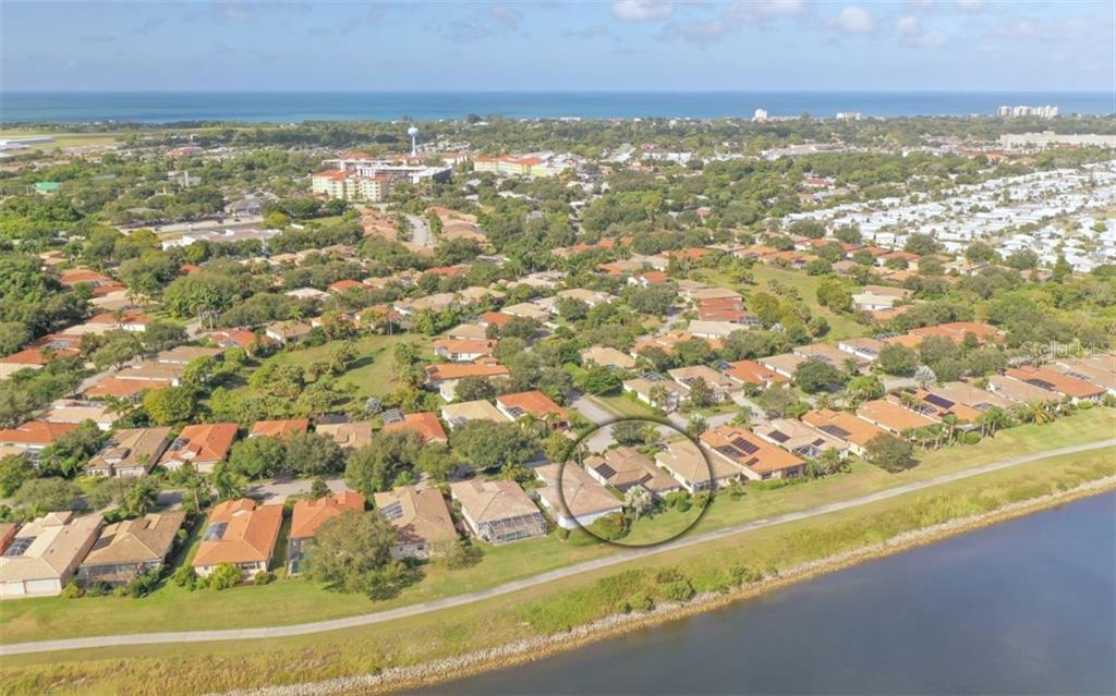 Aerial - Single Family Home for sale at 226 Rio Terra, Venice, FL 34285 - MLS Number is N6107320