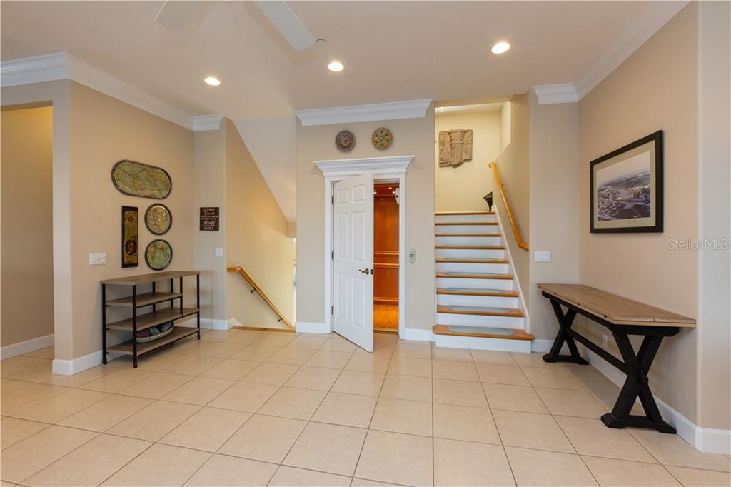Stairwell and Elevator - Single Family Home for sale at 714 Shakett Creek Dr, Nokomis, FL 34275 - MLS Number is N6107563