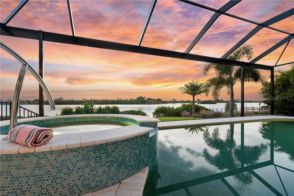 Pool with view of the Intracoastal Waterway - Single Family Home for sale at 4919 Topsail Dr, Nokomis, FL 34275 - MLS Number is N6107792
