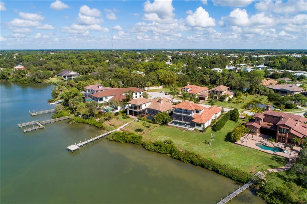 Aerial - Single Family Home for sale at 4919 Topsail Dr, Nokomis, FL 34275 - MLS Number is N6107792