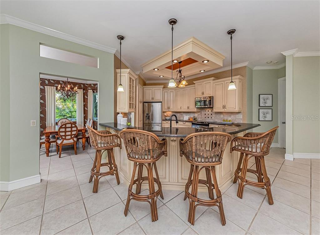 The cook won't feel left out with this nice open kitchen. - Single Family Home for sale at 727 Eagle Point Dr, Venice, FL 34285 - MLS Number is N6110087