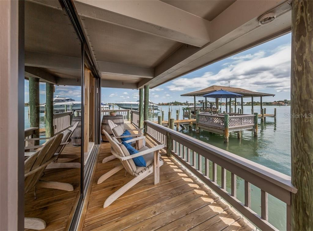 Back guest house porch - Single Family Home for sale at 2208 Casey Key Rd, Nokomis, FL 34275 - MLS Number is N6110959