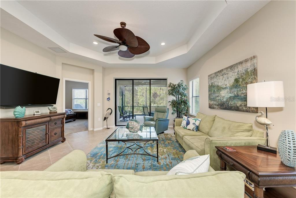 View of living room - Villa for sale at 11433 Okaloosa Dr, Venice, FL 34293 - MLS Number is N6113314