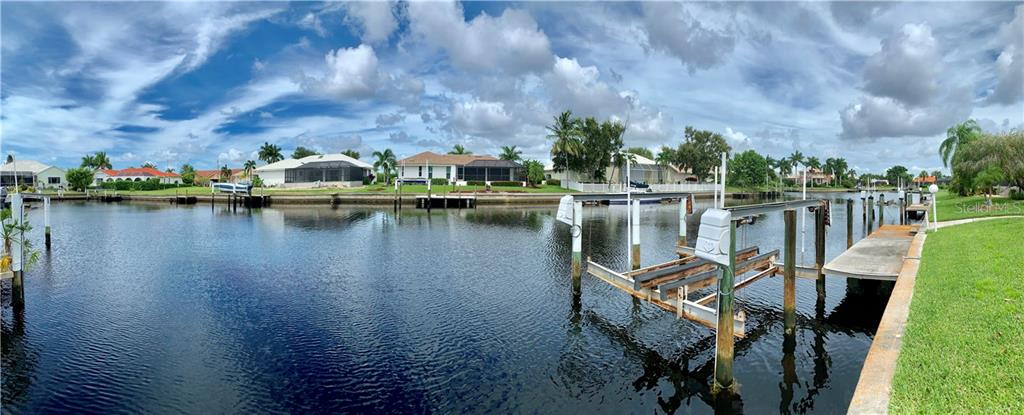 Panoramic view of the canal to the south, west and north - Single Family Home for sale at 3425 Curacao Ct, Punta Gorda, FL 33950 - MLS Number is C7419703