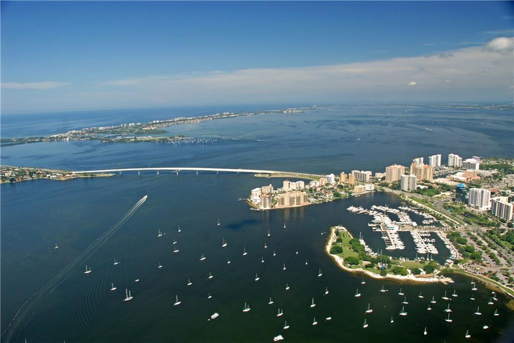 Aerial view of Sarasota Bay - Vacant Land for sale at 4153 Higel Ave, Sarasota, FL 34242 - MLS Number is A4189816