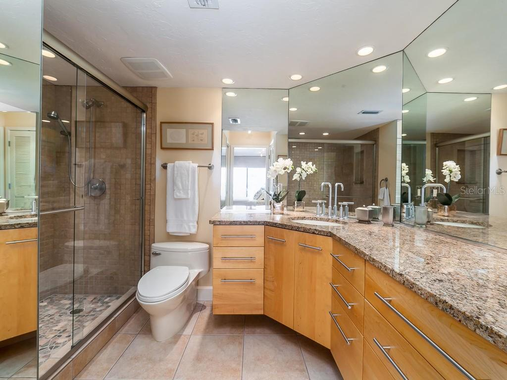 Updated master bathroom - Condo for sale at 20 Whispering Sands Dr #301, Sarasota, FL 34242 - MLS Number is A4190302