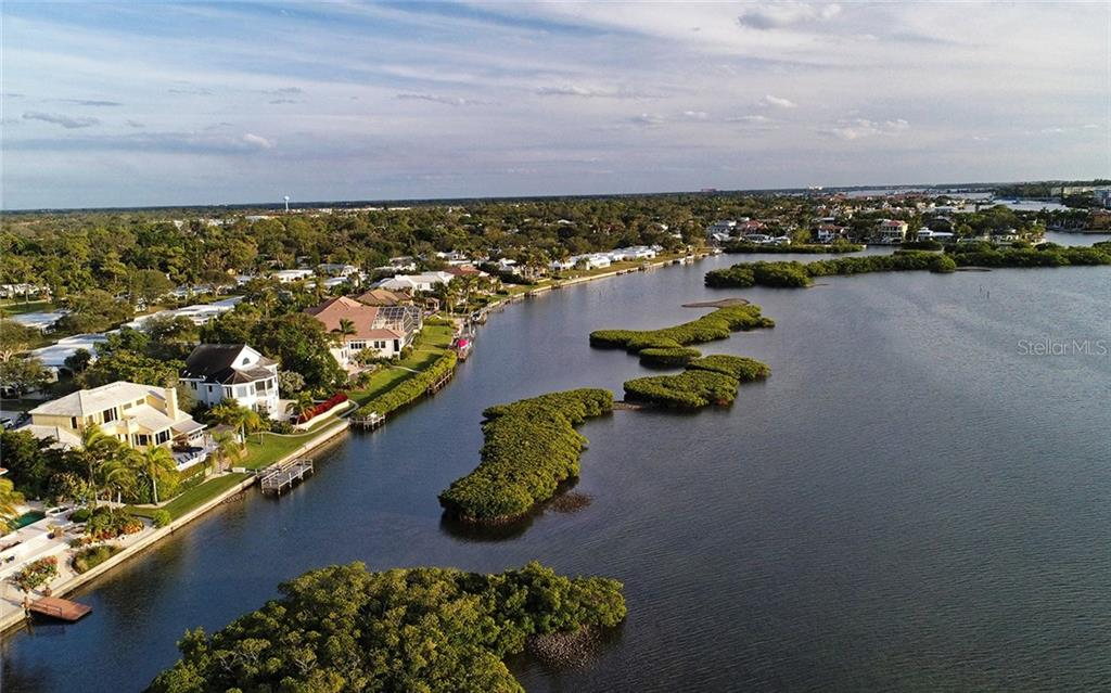 The channel following to the bay...motorboats allowed. - Single Family Home for sale at 5824 Tidewood Ave, Sarasota, FL 34231 - MLS Number is A4205461
