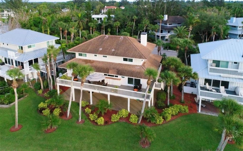 Aerial view - Single Family Home for sale at 148 Sand Dollar Ln, Sarasota, FL 34242 - MLS Number is A4206505