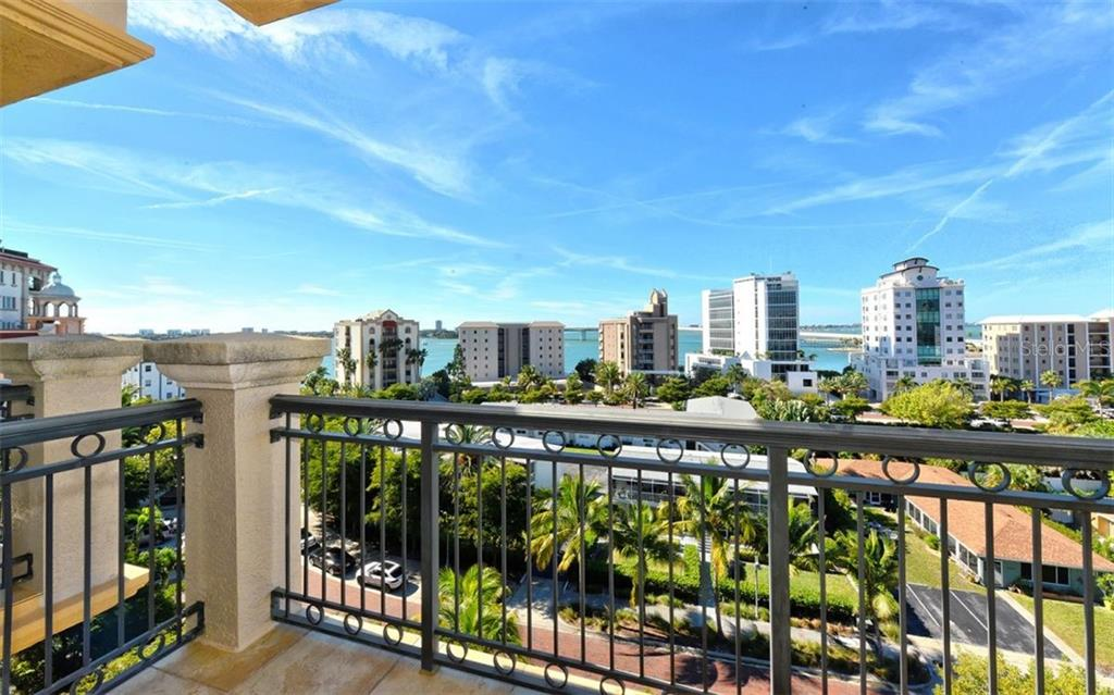 View form terrace off Guest En Suite #2. - Condo for sale at 464 Golden Gate Pt #701, Sarasota, FL 34236 - MLS Number is A4422622