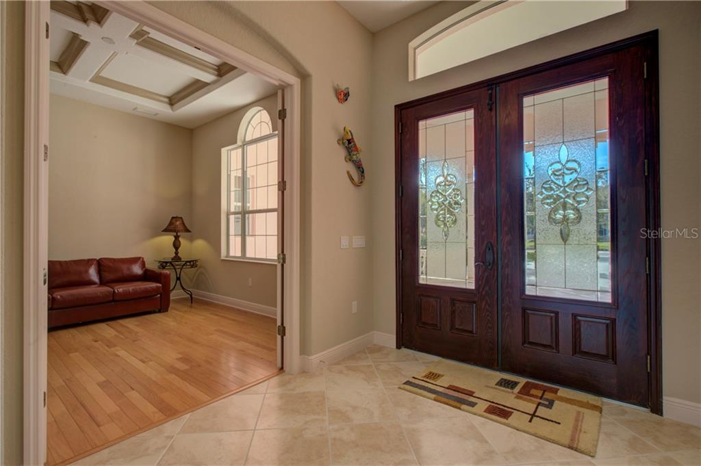 Absolutely beautiful front doors and foyer. - Single Family Home for sale at 15109 17th Ave E, Bradenton, FL 34212 - MLS Number is A4425963