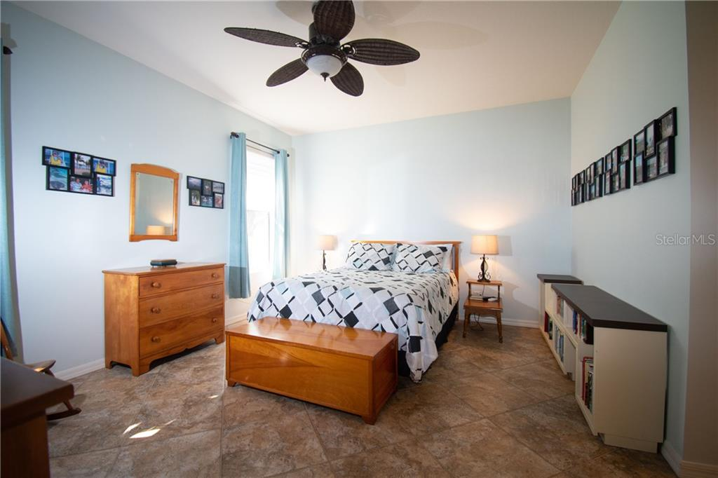 Master Bedroom view from the door - Villa for sale at 1808 Batello Dr, Venice, FL 34292 - MLS Number is A4426491