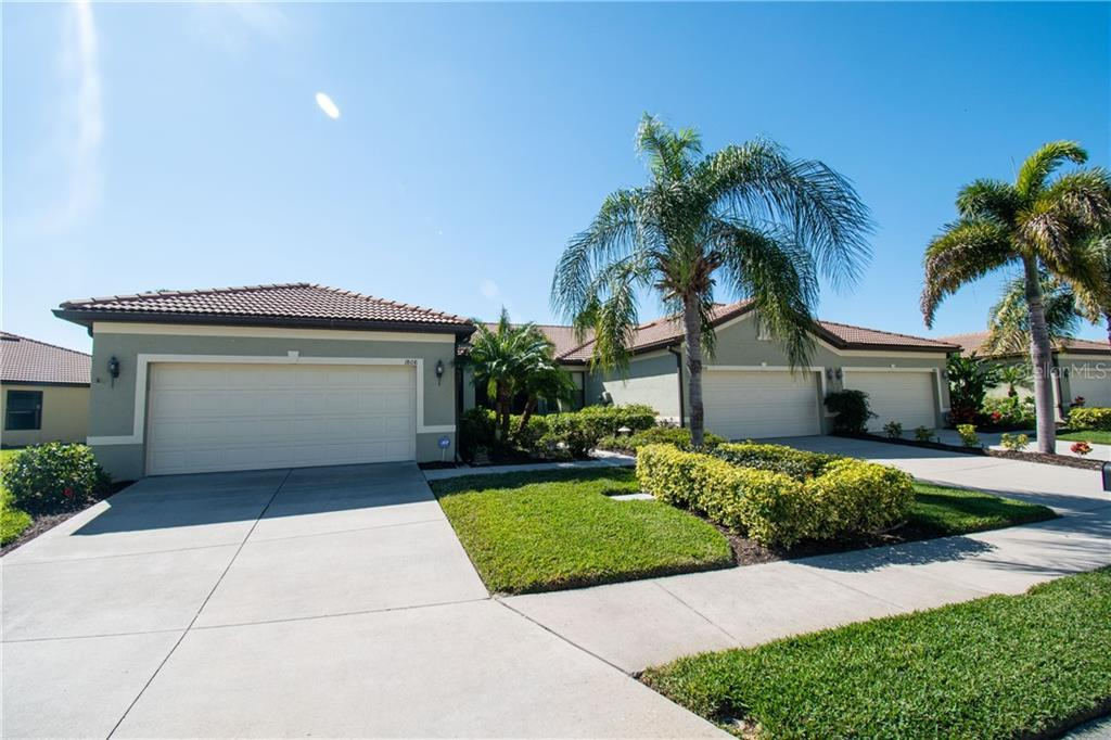 Front - Villa for sale at 1808 Batello Dr, Venice, FL 34292 - MLS Number is A4426491