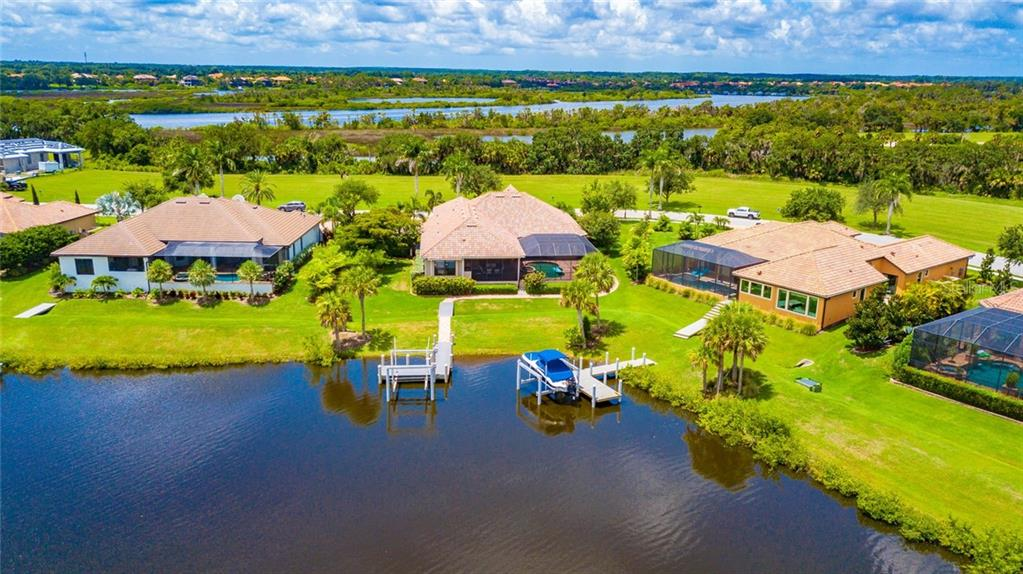 Front Arial View - Single Family Home for sale at 11728 Rive Isle Run, Parrish, FL 34219 - MLS Number is A4439074
